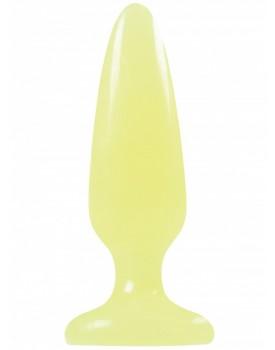 Anální kolík Firefly SMALL - svítící ve tmě, žlutý