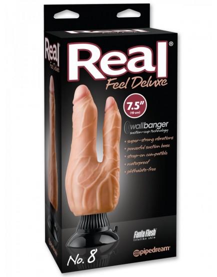 Dvojitý realistický vibrátor Real Feel Deluxe No. 8 - Pipedream