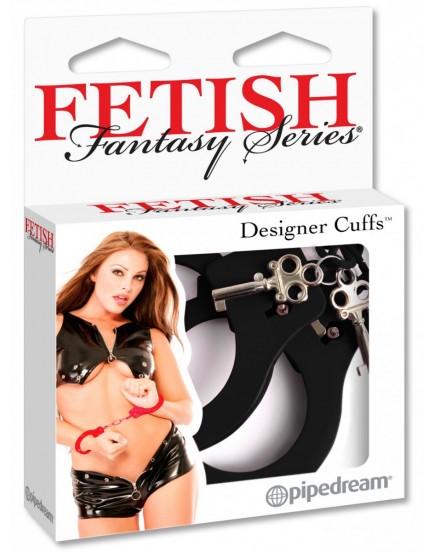 Kovová pouta Designer Cuffs (černá) - Fetish Fantasy