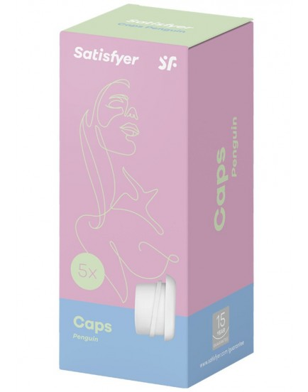 Náhradní manžety pro stimulátor klitorisu Satisfyer PRO PENGUIN – Next Generation, 5 ks