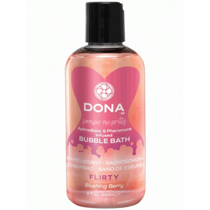 Pěna do koupele s afrodiziaky a feromony Flirty Blushing Berry, 240 ml
