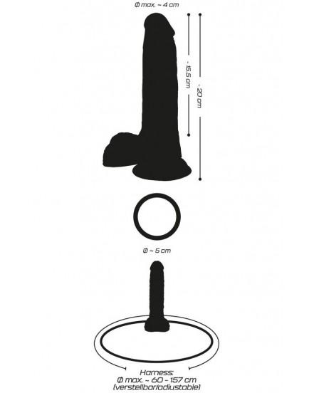 Připínací penis Crystal Clear
