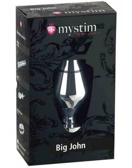 Kovový anální kolík pro elektrosex Big John XL - MYSTIM