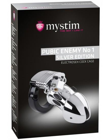 Klícka na penis pro elektrosex Pubic Enemy No 1 Silver Edition - MYSTIM