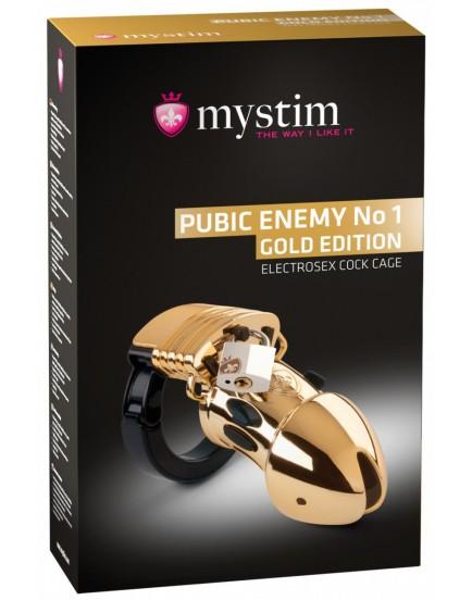 Klícka na penis pro elektrosex Pubic Enemy No 1 Gold Edition - MYSTIM