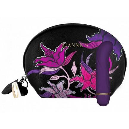 Minivibrátor na bod G Floral Deep Purple - s taštičkou