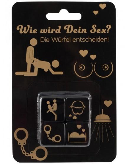 Erotické hrací kostky - 4 ks