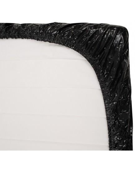 Černé lakované napínací prostěradlo s gumou (220 x 220 cm)