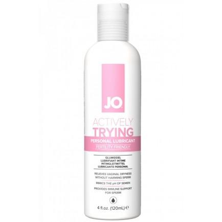 Lubrikační gel System JO Actively Trying na podporu otěhotnění