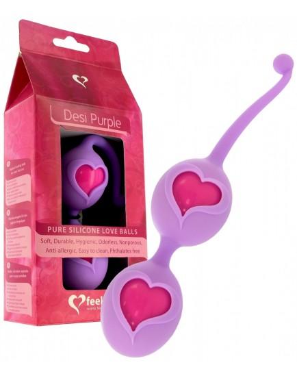 Silikonové venušiny kuličky Desi Purple - FeelzToys