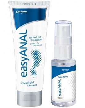 Anální lubrikační gel + relaxační sprej easyANAL