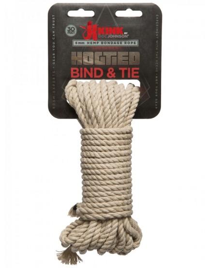 Konopné lano na bondage Hogtied Bind & Tie - 9 m