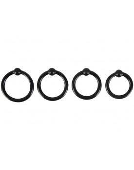 Sada erekčních kroužků s kuličkou Rebel - 4ks