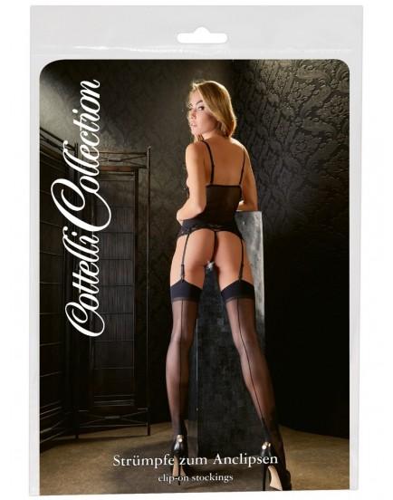 Punčochy na podvazky s linkou - Cottelli Collection