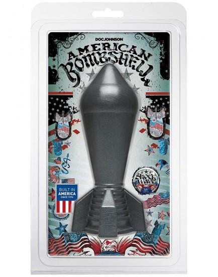 Dildo American Bombshell SHOCKWAVE Gun Metal - Doc Johnson