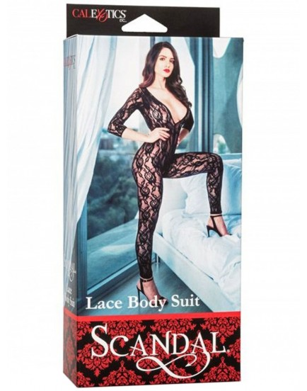 Krajkový catsuit s otvorem v rozkroku (Scandal)