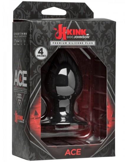 """Anální kolík ze silikonu Doc Johnson KINK Ace 4"""" (střední), 9,6 cm"""