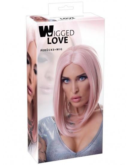 Dlouhá růžová paruka - Wigged Love