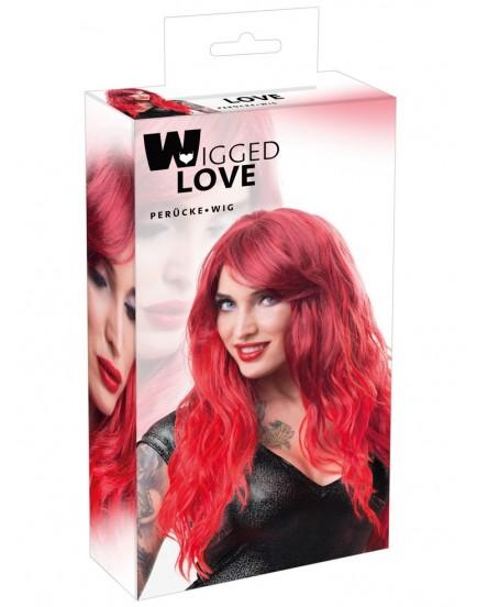 Dlouhá vlnitá červená paruka Zora - Wigged Love