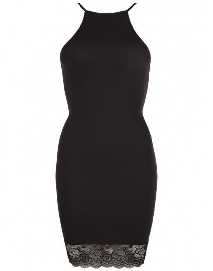 Lehce průsvitné šaty s krajkou - Cottelli Collection