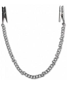 Svorky na bradavky ve tvaru kolíčků s řetízkem Pipedream