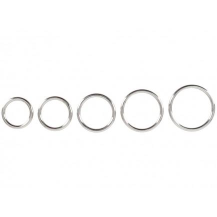 Sada kovových erekčních kroužků, 5 ks - Bad Kitty