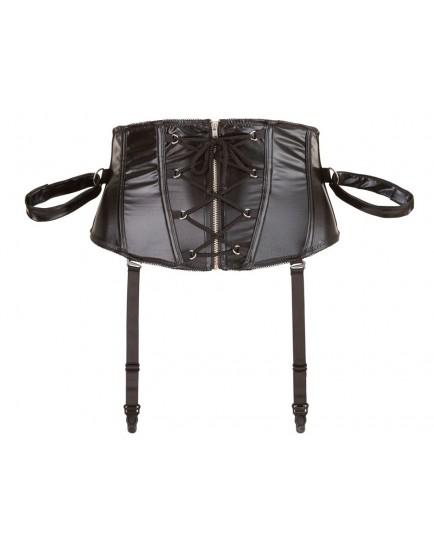 Korzet se šněrováním a pouty + maska na oči - BONDAGE Cottelli Collection