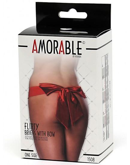 Červená tanga s velkou mašlí - Amorable