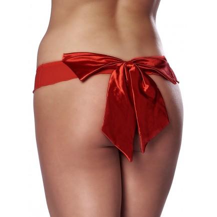 Červená tanga s velkou mašlí - Rimba