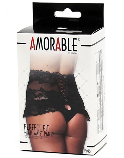 Krajkové kalhotky s vysokým pasem a šněrováním - Amorable