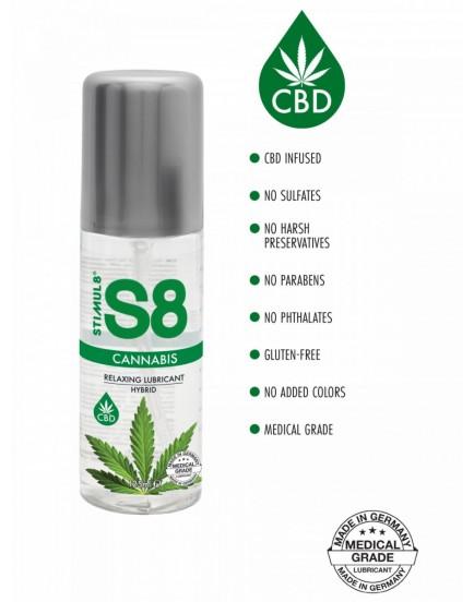 Hybridní lubrikační gel S8 Cannabis - 125 ml