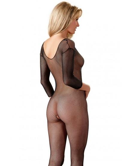 Síťovaný catsuit NO:XQSE (černý)