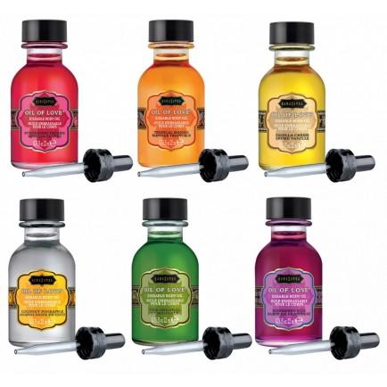 Sada slíbatelných tělových olejů OIL OF LOVE - KamaSutra