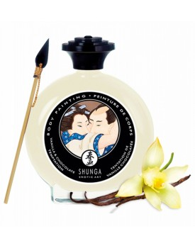 Slíbatelný bodypainting Vanilla & Chocolate Temptation - Shunga, 100 ml