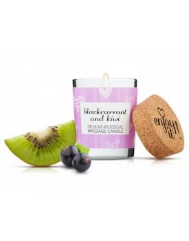 Afrodiziakální masážní svíčka MAGNETIFICO - Enjoy it! (blackcurrant and kiwi)
