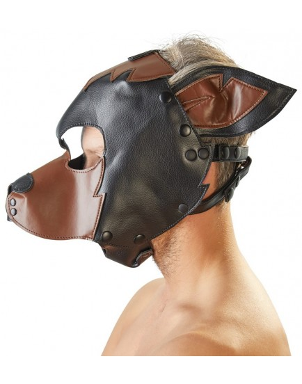 Fetish maska Pes Fetish Collection, černohnědá