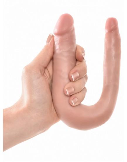 Dvojité realistické dildo Pipedream King Cock Small Double Trouble - 15cm