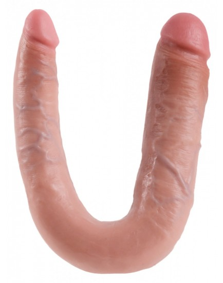 Dvojité realistické dildo Pipedream King Cock Large Double Trouble - 22 cm