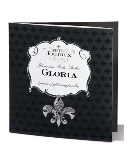 Samolepicí ozdoby na bradavky a vaginu Petits Joujoux Gloria - černé