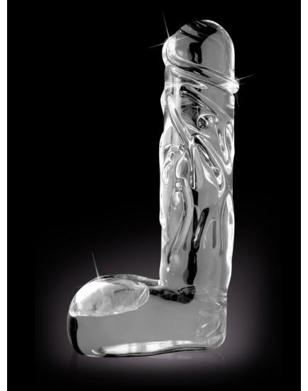 Realistické skleněné dildo Icicles No. 40 - Pipedream