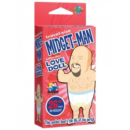Nafukovací pidimužík Pipedream Midget Man (v cestovní velikosti)