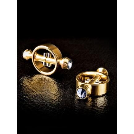 Magnetické svorky na bradavky Fetish Fantasy Gold - Pipedream