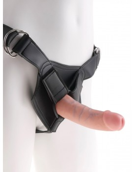 "Realistické dildo Pipedream King Cock 6"" + postroj Heavy Duty"
