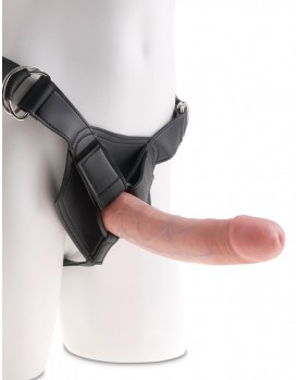 "Realistické dildo Pipedream King Cock 8"" + postroj Heavy Duty"
