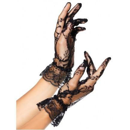 Krátké krajkové rukavice s volánkem - Leg Avenue