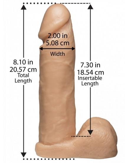 "Realistické dildo Doc Johnson Vac-U-Lock 8"" + postroj"