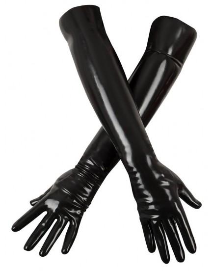 Dlouhé rukavice z chlorovaného latexu - LateX
