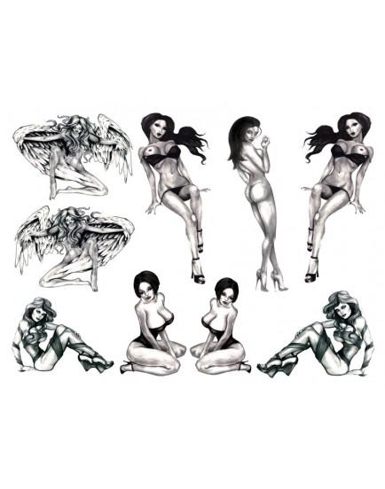 Erotické tetování - Naughty Pin-Up