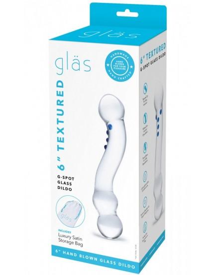 Oboustranné skleněné dildo G-Spot - Gläs