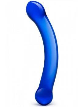 Oboustranné skleněné dildo G-spot Blue - Gläs